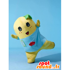 Geel teddy mascotte, glimlachende mens - MASFR21633 - Niet-ingedeelde Mascottes