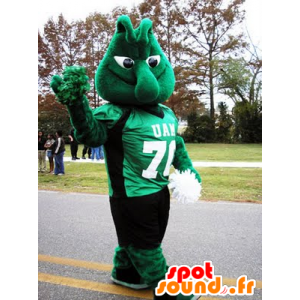 Snowman mascot, green monster - MASFR21634 - Mascots unclassified