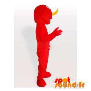 Mascotte de monstre rouge. Costume de monstre - MASFR006471 - Mascottes de monstres