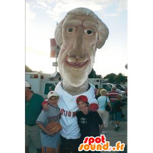 Politico Mascotte, uomo dai capelli bianchi - MASFR21653 - Umani mascotte