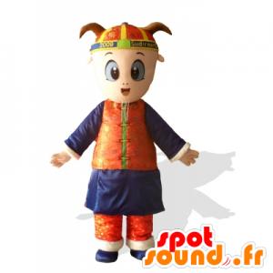 Mascot Child, Asian girl holding - MASFR21660 - Mascots child