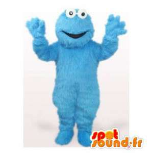 Mascotte blauw monster. Monster Costume