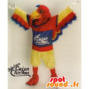 Mascota del pájaro rojo, amarillo y azul, gigante, peludo todo - MASFR21675 - Mascota de aves