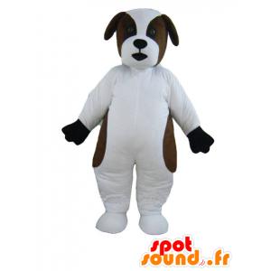 Maskotka biały i brązowy pies, bernardyn - MASFR21687 - dog Maskotki