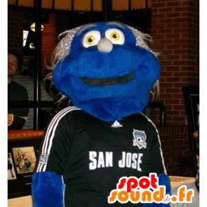 Mascot blauwe jongen met gele ogen - MASFR21694 - Niet-ingedeelde Mascottes