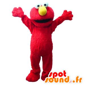 Elmo μασκότ διάσημο κόκκινο μαριονέτα