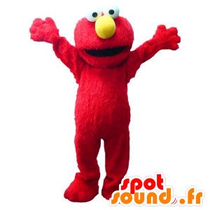 Mascotte d'Elmo, célèbre marionnette rouge - MASFR21699 - Mascottes 1 rue sesame Elmo