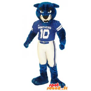 Azul mascote e tigre branco, gigante - MASFR21703 - Tiger Mascotes