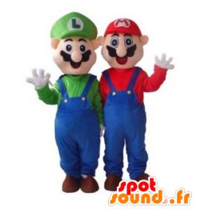 Mascot Mario en Luigi, de beroemde video game karakters