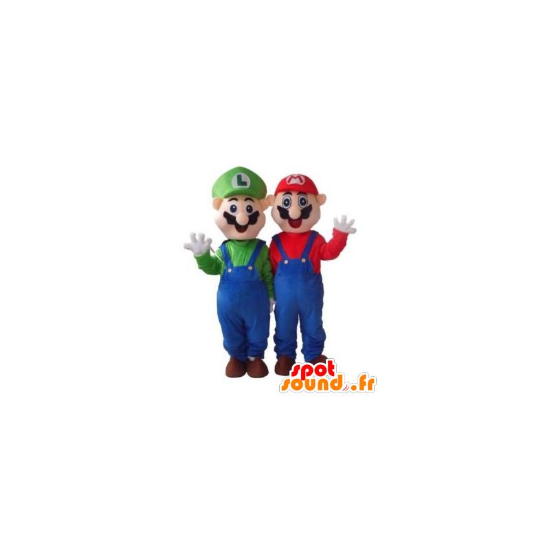 Mascotte de Mario et Luigi, célèbres personnages de jeu vidéo - MASFR21726 - Mascottes Mario