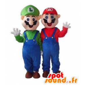 Mascot Mario and Luigi, famous video game characters - MASFR21726 - Mascots Mario