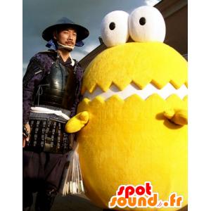 Mascotte riesiges Ei, Gelb und Weiß, mit großen Augen - MASFR21729 - Maskottchen für Obst und Gemüse