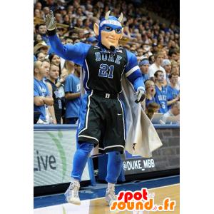 Mascot sportman, super held met horens