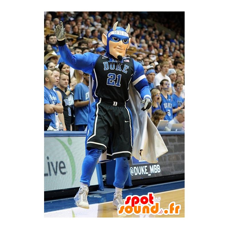Mascotte d'homme sportif, de super héros avec des cornes - MASFR21740 - Mascotte de super-héros