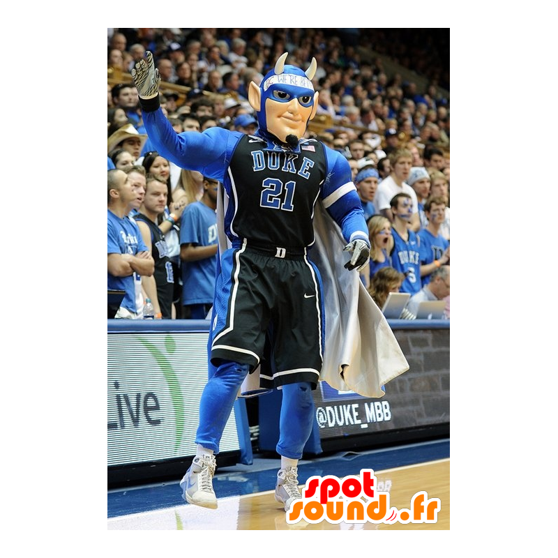 Sports mascot man superhero with horns - MASFR21740 - Superhero mascot