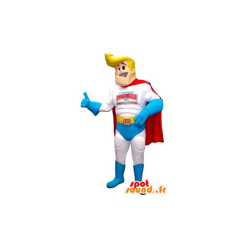 Mascotte de super-héros, blond et musclé - MASFR21744 - Mascotte de super-héros