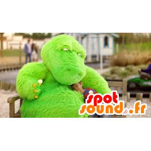 Dragon mascot, dinosaur, green monster - MASFR21752 - Dragon mascot