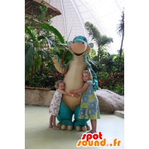Mascot blau und beige Dinosaurier, Riesen - MASFR21763 - Maskottchen-Dinosaurier