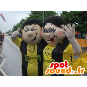 Mascot man and woman, couple of fans - MASFR21767 - Mascots woman