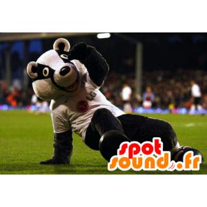 Maskotti mustavalkoinen karhu, pesukarhu - MASFR21783 - Bear Mascot