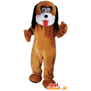 Brązowy pies maskotka, konfigurowalny biały i czarny - MASFR21797 - dog Maskotki