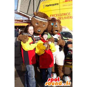 2 karhu maskotit vuonna urheiluvaatteet - MASFR21818 - Bear Mascot