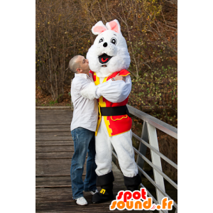 White rabbit mascot pirate costume - MASFR21822 - Mascottes de Pirate