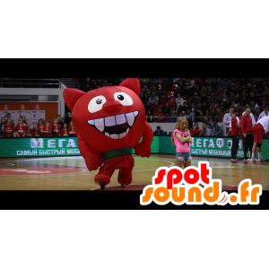 Mascotte de diable, de diablotin rouge, géant