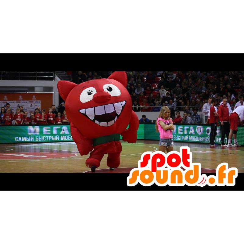 Mascotte de diable, de diablotin rouge, géant - MASFR21824 - Mascottes animaux disparus