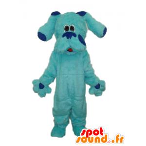 Blue Dog Mascot, cały owłosiony, gigant i słodkie - MASFR21847 - dog Maskotki