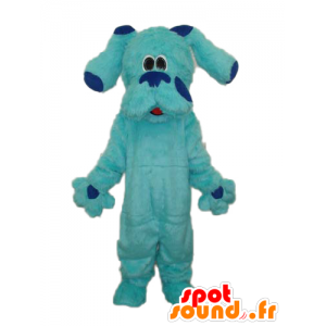 Blue Dog Mascot, todo peludo, gigante e bonito - MASFR21847 - Mascotes cão