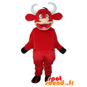 Lehmän maskotti Kiri, punainen ja valkoinen - MASFR21849 - lehmä Maskotteja