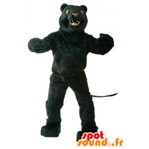 Black Panther mascotte, groene ogen - MASFR21883 - Lion Mascottes