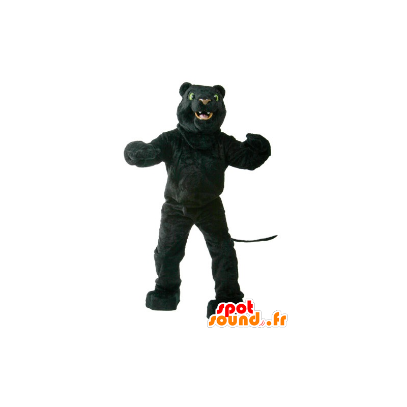 Mascot black panther, with green eyes - MASFR21883 - Lion mascots