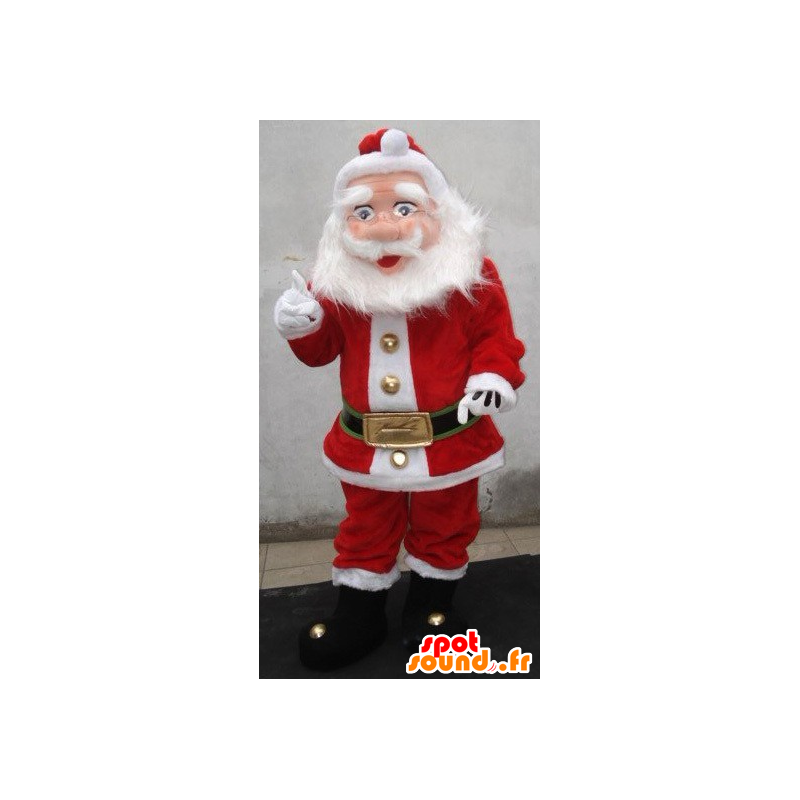 Santa Claus mascot, dressed in red and white - MASFR21912 - Christmas mascots