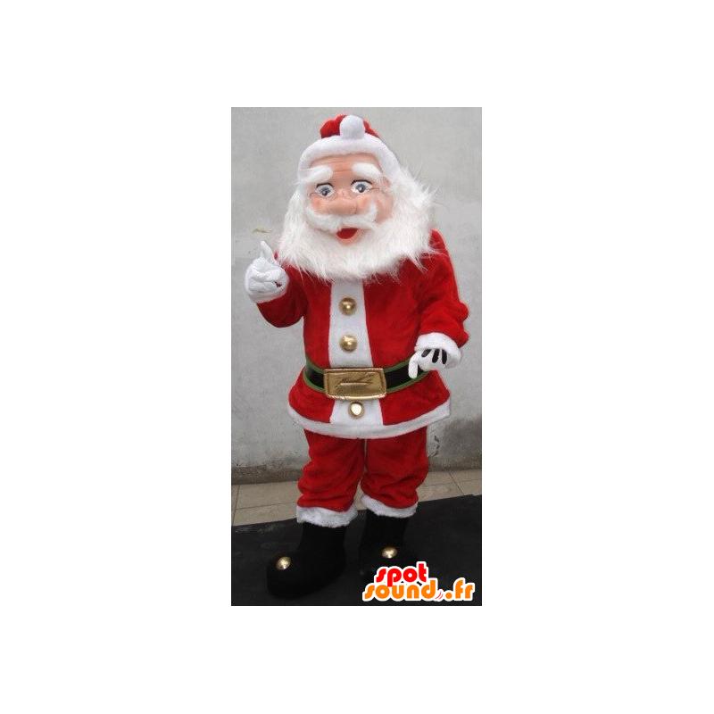 Weihnachtsmann-Maskottchen, in rot und weiß gekleidet - MASFR21912 - Weihnachten-Maskottchen