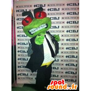 La mascota de la rana verde en un traje y corbata - MASFR21913 - Rana de mascotas