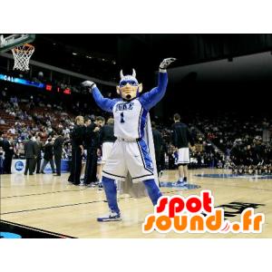 Mascot mann, superhelter, sport med horn