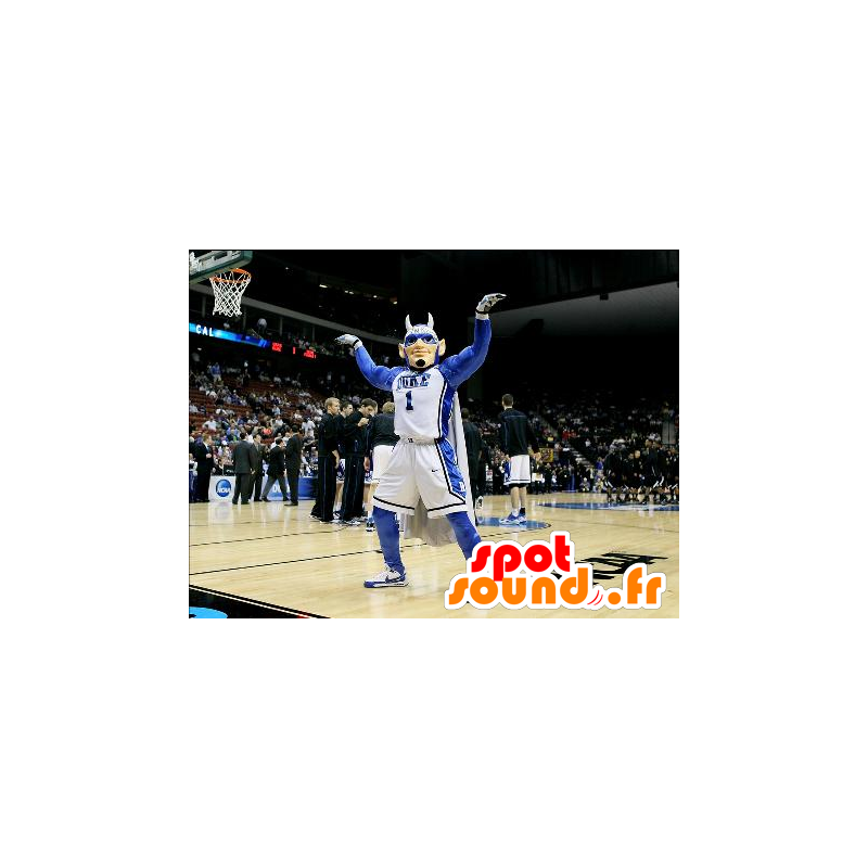 Mascot man, superheroes, sports with horns - MASFR21931 - Superhero mascot