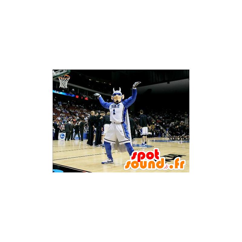 Mascotte d'homme, de super-héros, de sportif avec des cornes - MASFR21931 - Mascotte de super-héros