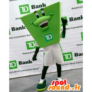 Groene mascotte mens TD Bank, zeer glimlachen - MASFR21979 - Niet-ingedeelde Mascottes