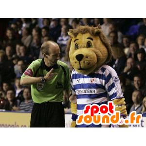 Brown lion mascot in sportswear - MASFR21999 - Lion mascots