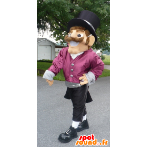 Man smiling mascot dressed in a classy outfit - MASFR22015 - Human mascots