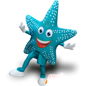 Mascot Star of blue sea, very cheerful