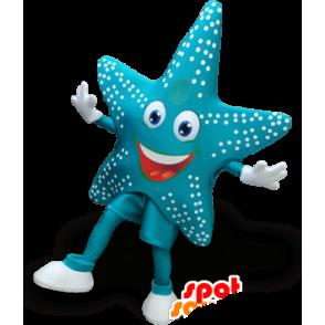 Mascot Star of blue sea, very cheerful - MASFR22017 - Mascots starfish