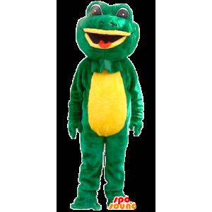 Grüne und gelbe Frosch-Maskottchen - MASFR22035 - Maskottchen-Frosch