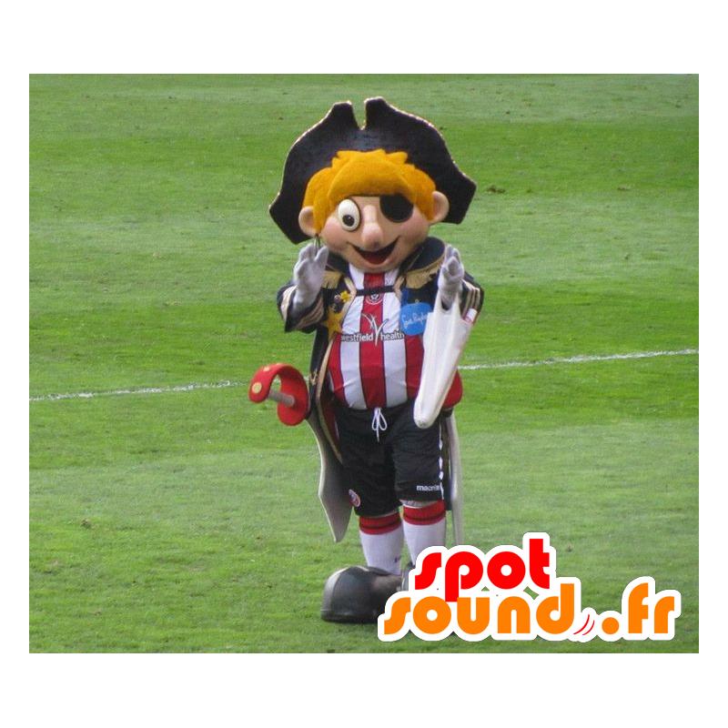 Blond Pirate Mascot met een sport outfit en hoed - MASFR22042 - mascottes Pirates