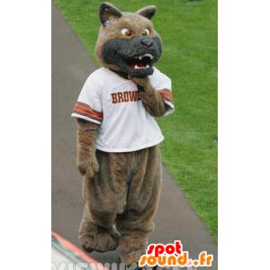 Mascot Hund, braun und grau Wolf zu schauen bedeuten - MASFR22093 - Maskottchen-Wolf