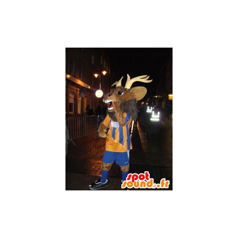 Hirvi maskotti, caribou, ruskea vauhtia urheiluasut - MASFR22099 - Stag ja Doe Mascots