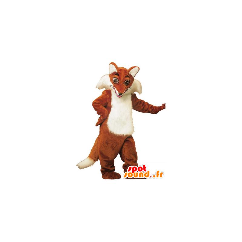 Mascot orange and white fox, very realistic - MASFR22110 - Mascots Fox